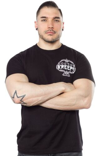 Kustom Kreeps by Sourpuss Pinstriped Spade Mens Black T Shirt