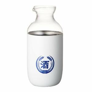 Doshisha-Sake-Decanter-Carafe-Tokkuri-Glass-amp-Stainless-Steel-Outer-Case-360mL