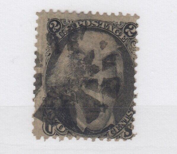 USA 1863 2c Black Jackson Scott #73 Fine Used JK2571