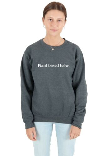 Plant Based Babe Jumper Sweatshirt Sweater Top Funny Vegan Vegetarian Avocado