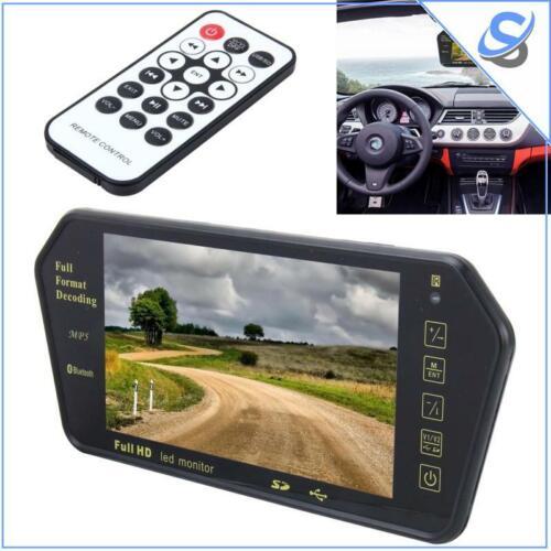 7 inch TFT LCD Car Monitor Bluetooth MP55 480x234 Rear View USB Remote Control