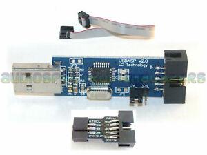 USBasp Programmer cable & adapter FW V1.06 USB KK2.0 Multiwii ATMega 2560 AVR UK