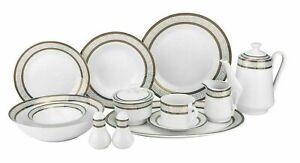 57-Piece-Euro-Porcelain-Greek-Key-Fine-Bone-China-Dinner-Dish-Set-for-8-White