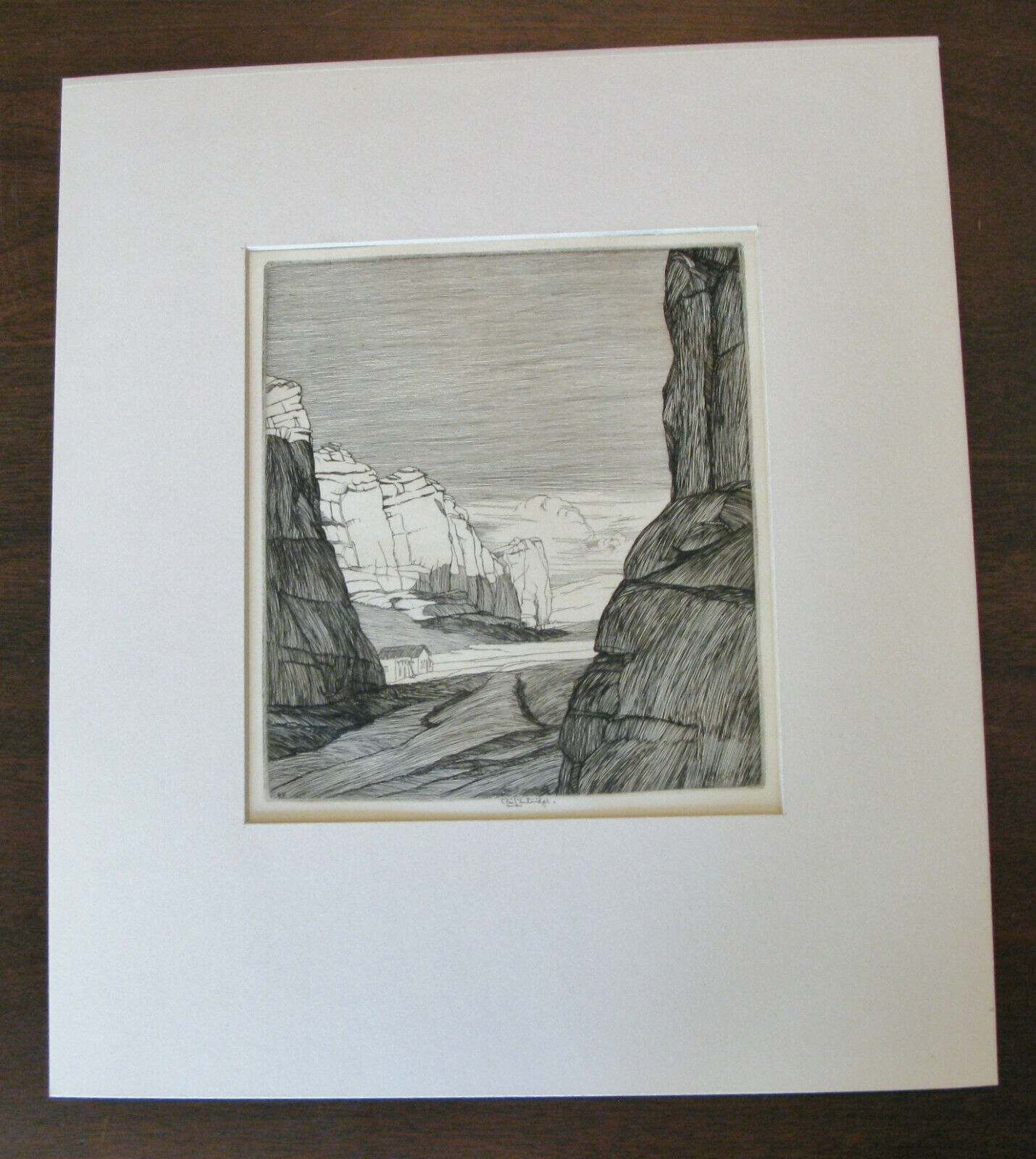 "Roi Partridge (1888-1984) ""Rock Shadow"", Original Signed in Pencil 9"" x 7 7/8"" on eBay thumbnail"