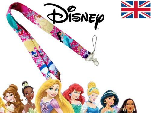 Disney Princess 4 Lanyard Disney Princesse clé magnétique ID Badge Holder