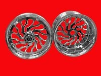 Chrome 240 Fat Tire Turbo Hubs, Wheels, Sprocket For 2003 And 2007 Honda Cbr600