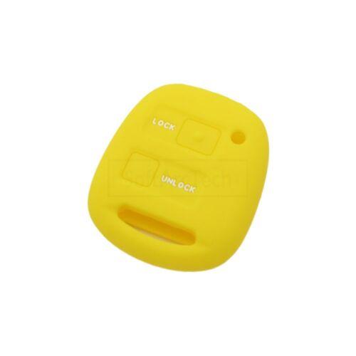 Silicone Cover fit for TOYOTA Camry Corolla RAV4 Prado Echo Remote Key 2BTN 4417