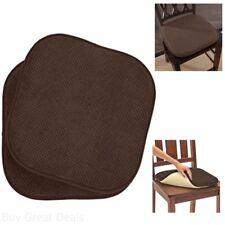 Ellington Home Non Slip Memory Foam Cushion Chair Pads   17 X 16In   Set Of