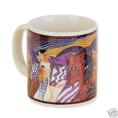 Laurel Burch Carlotta/'s Tall Cats Ceramic Coffee Tea Artistic Mug 14oz New