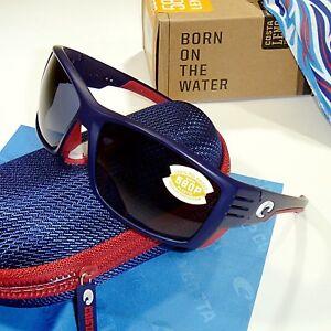 c410e5947c8 Costa Del Mar Cortez Polarized Sunglasses-USA Blue Frame Gray Mirror ...