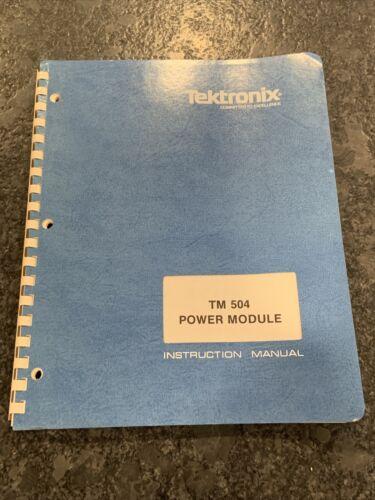 Original Tektronix TM 504 Power Module Instruction Manual