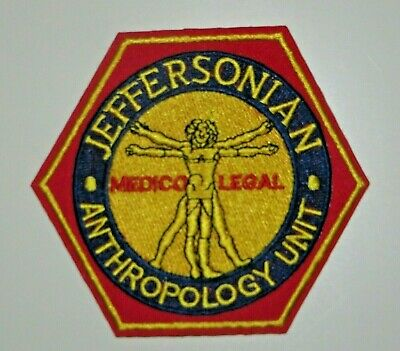 Bones TV Series Jeffersonian Anthropology Unit Embroidered Iron on Patch