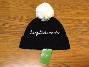 3d7c95ad744d2 KATE SPADE NEW YORK DAY DREAMER BEANIE HAT WITH POM POM NEW O S ...