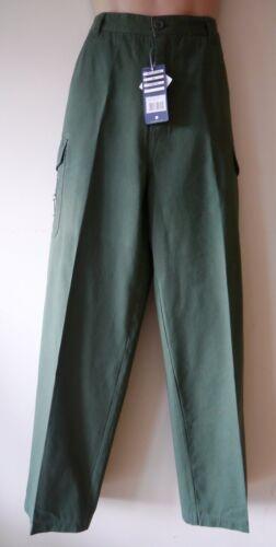 Da Uomo Cargo Combat Pantaloni Taglia 36 40 42 NUOVO Sherwood Forest Verde H cotone 32L