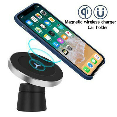 Magnetic Wireless Car Charger Holder For iPhone 11 XR XS Max Samsung S9 S10 Plus | eBay