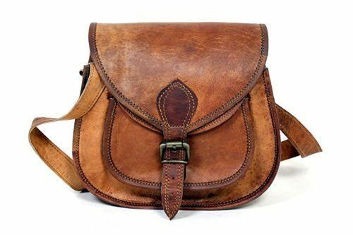 Women/'s Vintage Genuine Brown Leather Messenger Shoulder Cross Body Bag