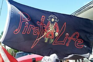 PIRATE'S LIFE Brand 3' x 5' FLAG Indoor/Outdoor Blackbeard RED