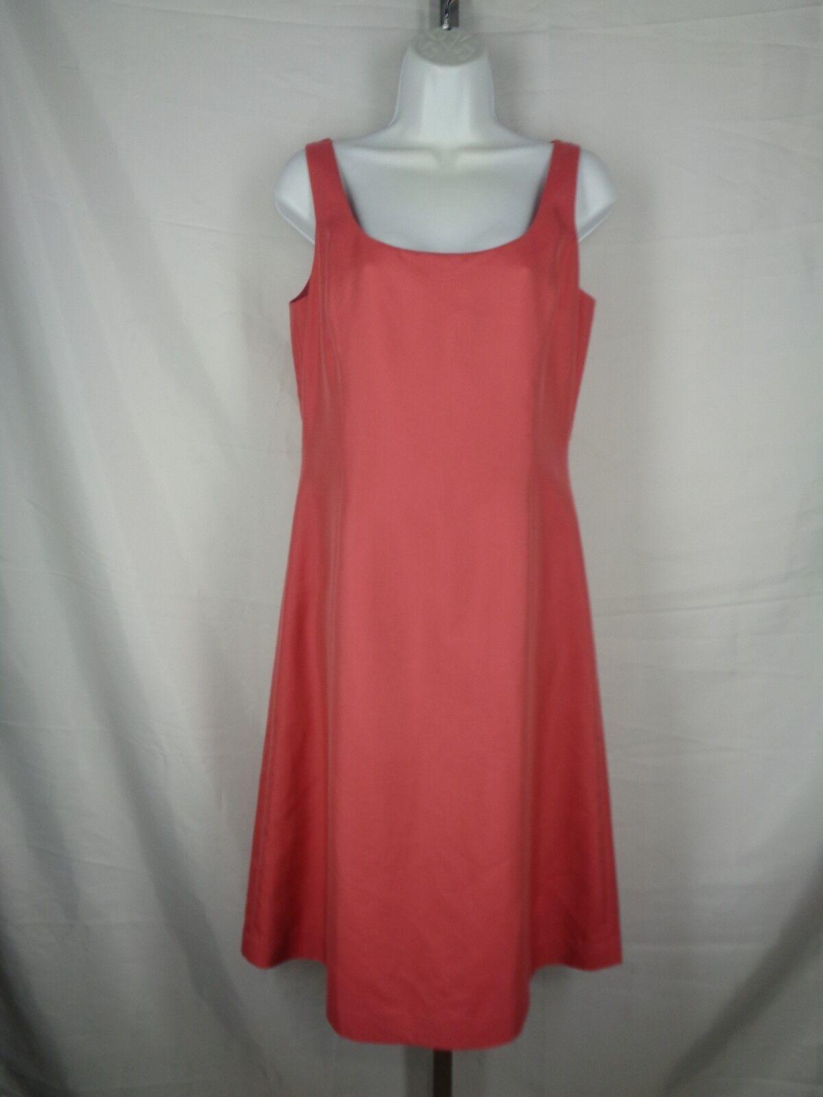 Ann Taylor Pink Dress Size 6 Cotton Silk Sleeveless New