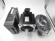 2KW 220V AC Servo Motor 7.7Nm 3PH&2KW Motor Driver CNC Kit & 3M Cables 130mm