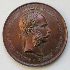 Ungarn-Franz-Joseph-I-Bronzemdaille-von-Tautenhayn-fuer-die-Anerkennung-im-Felde