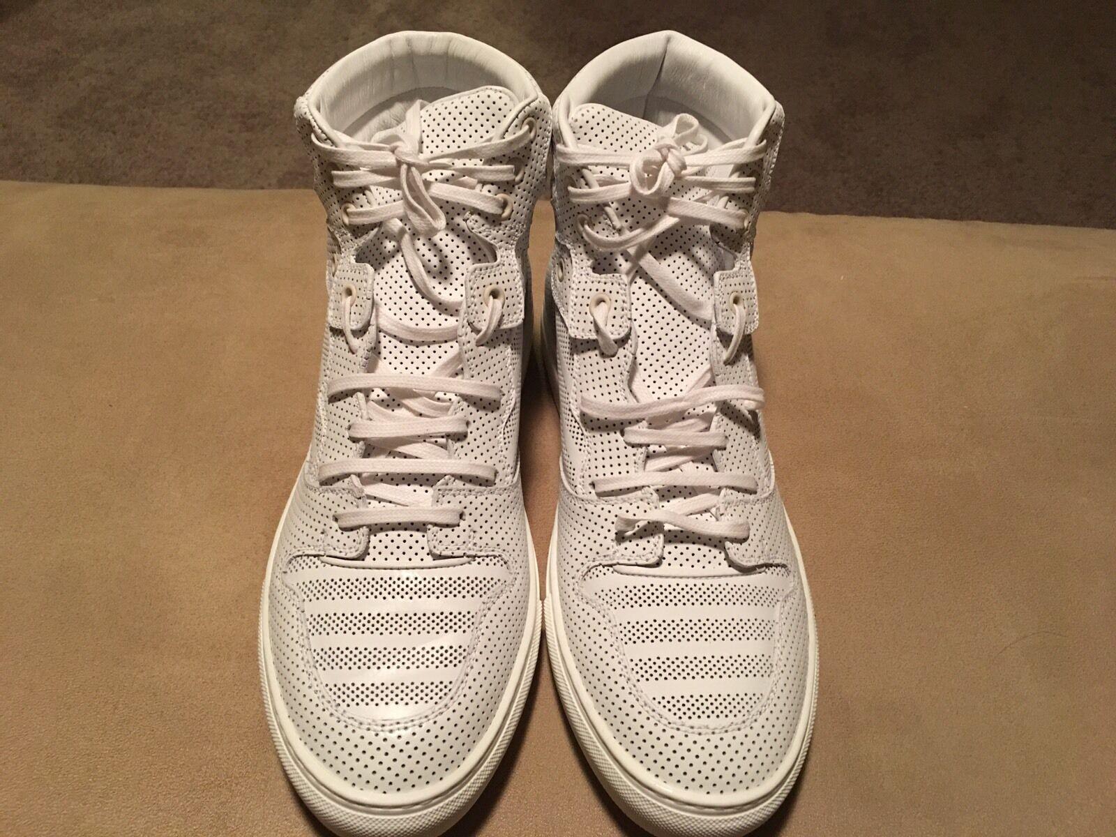 Scarpe casual da uomo  New balenciaga Monochrome Perforated White Sneaker Size 42 Fits USA Size 10/10.5