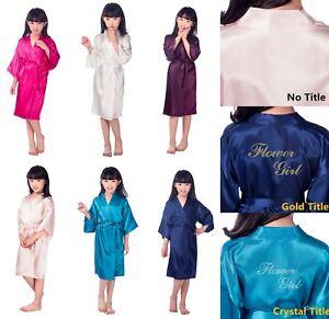 000f61af1 Personalized Flower Girls Child Kimono Robe Nightwear Wedding ...