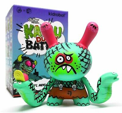 Cobra Boys Brown by Bwana Spoons Kidrobot x Clutter Kaiju Dunny Battle Series