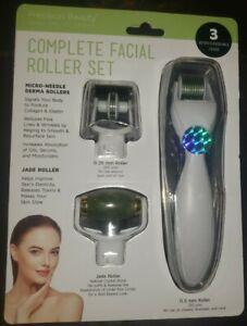 Precision Beauty Complete Facial Roller Set Micro Needle Derma Jade Rollers 769898480362 Ebay