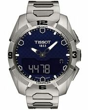 Tissot T0914204404100 T-Touch Expert Solar Men's Quartz Blue Dial Watch Titanium
