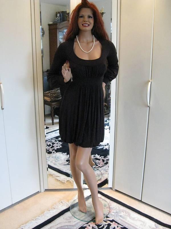 Grünigo Kleid Gr. 36   38 schwarz Paris verspieltes Hängerchen vorn sexy hinten