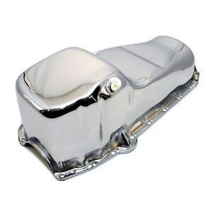 Chrome-Oil-Pan-Stock-Capacity-58-79-SBC-Small-Block-Chevy-283-305-327-350-400
