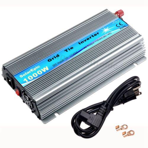 1000W Solar Grid Tie Inverter 110V or 220V MPPT Pure Sine Wave Inverter From USA