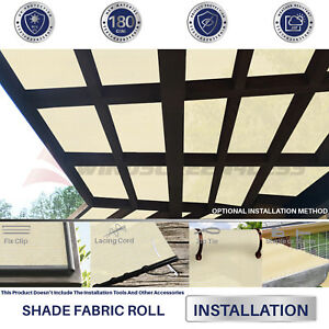 Image Is Loading Fabric Roll Shade Cloth Fence Net Sun Wind