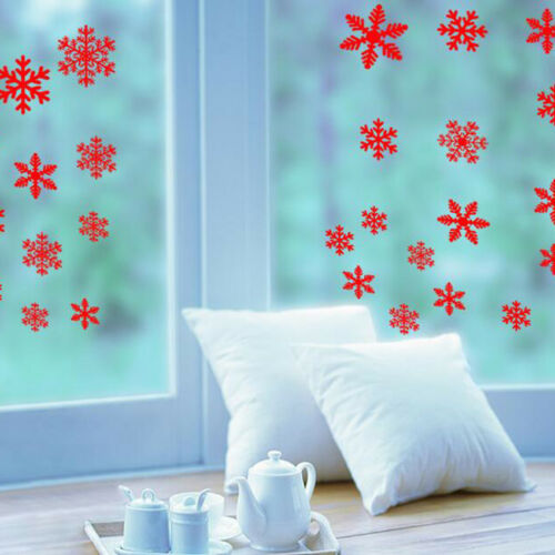 DIY Christmas Snowflakes Stickers Natural Color Family Christmas Home Decor