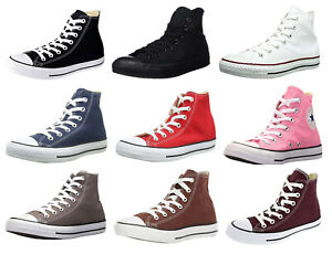 Converse-Hi-Tops-Black-White-Navy-Red-Grey-Burgundy-Sneakers-Trainers-Shoes