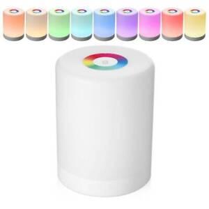 LED-Lampes-a-capteur-tactile-Lampe-de-Table-chevet-variateur-rechargeable-USB