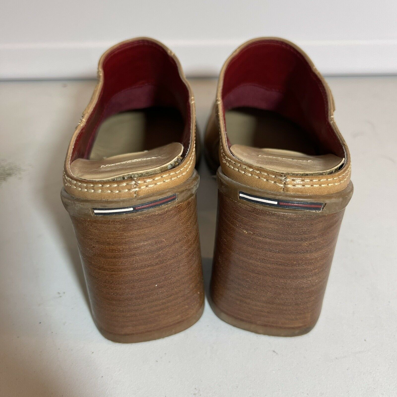 Tommy Hilfiger Leather Clogs Mules Womens 7-7.5 T… - image 3