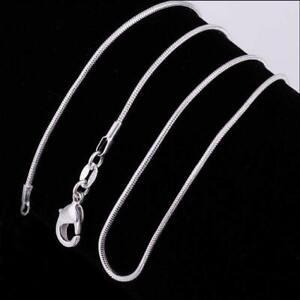 Fashion-Frauen-Maedchen-Silber-Uberzug-Halskette-Schlangenkette-Halskette-N5Q2