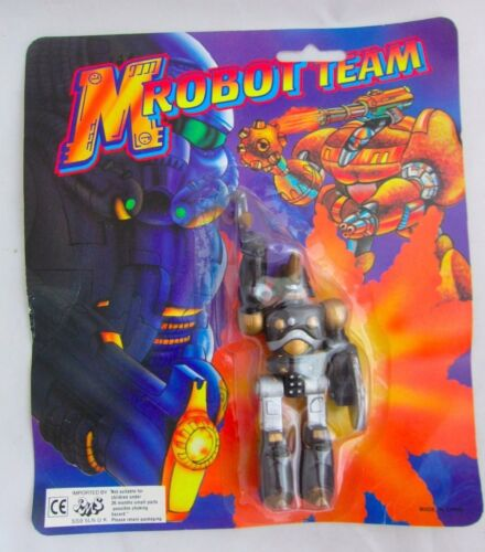 Team M ROBOT SERIE COMPLETA DI 6 KO BOOTLEG ACTION FIGURE VINTAGE SPACE GIOCATTOLI MOC