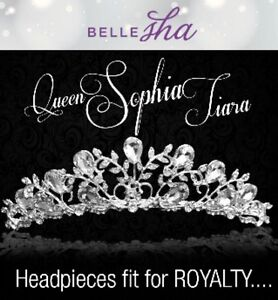 Bellesha Queen Sophia Tiara Birthday Pageant Headpiece New Free Shipping!
