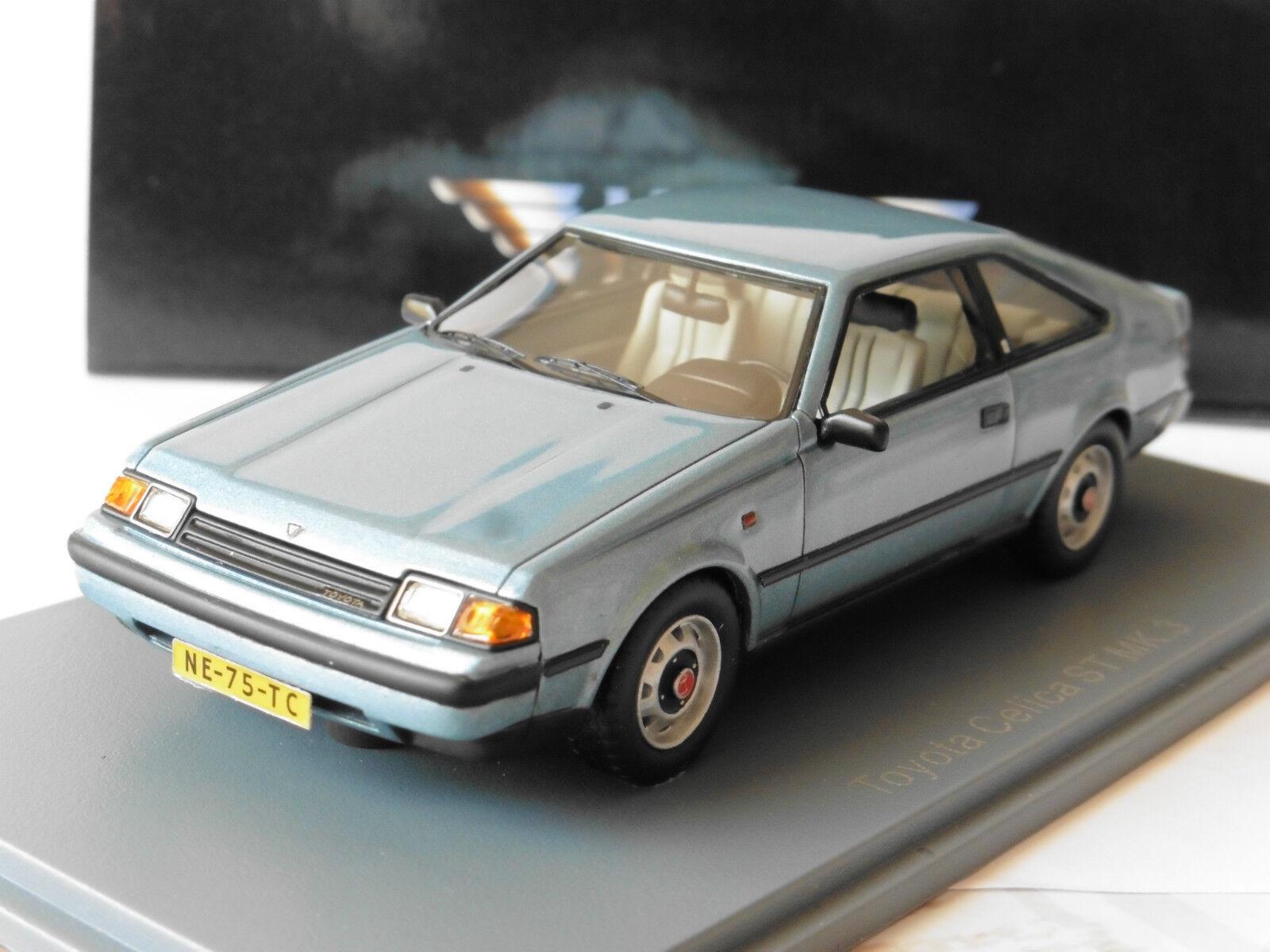 Toyota celica st mk3 light bluee metal 1983 43775 1 43 neo resin model light bluee
