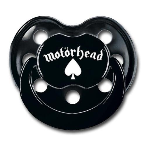 Motörhead Baby Soother  schwarz mit schwarzen Griff - Schnuller Logo