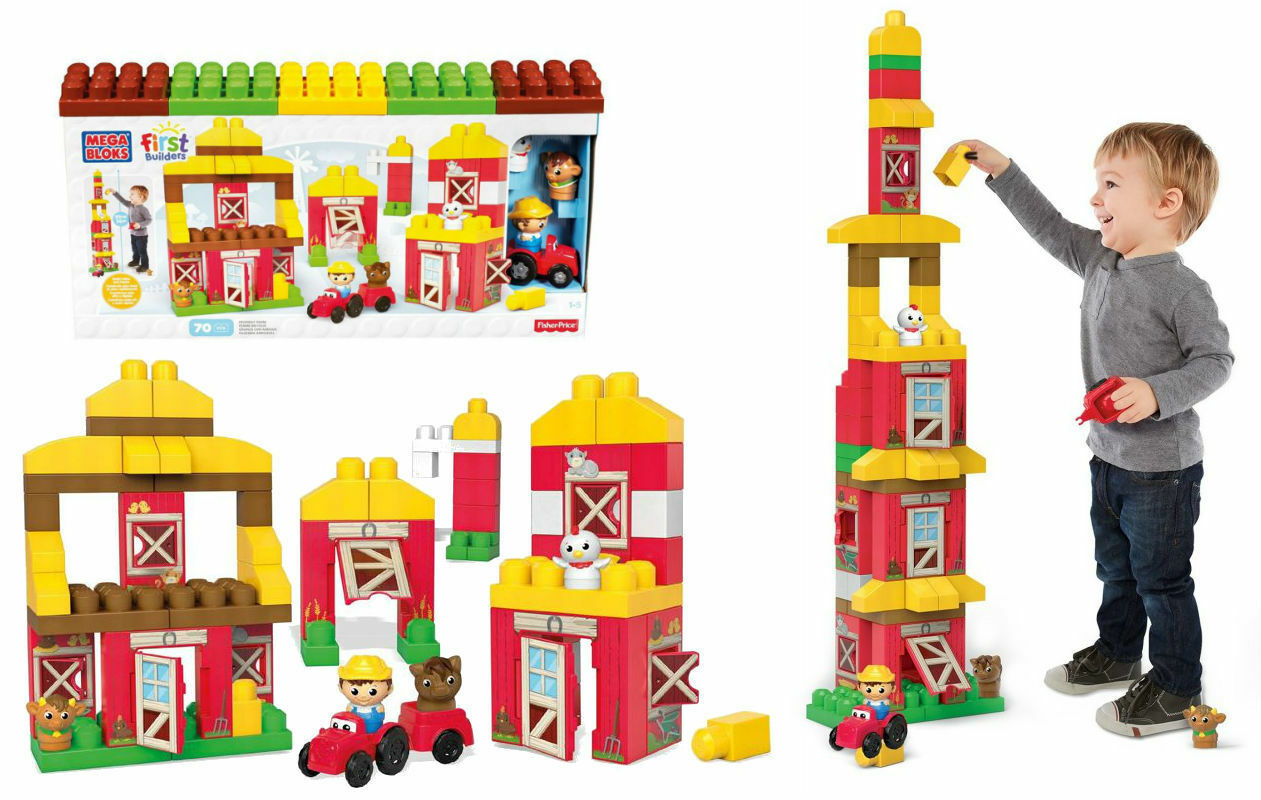 Mega Bloks First Builders Friendly Farm 70 pieces CNG27 NEW