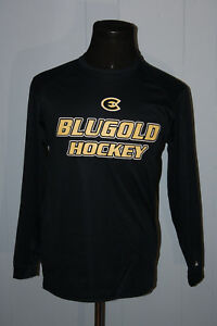 best service 1eb68 5ac3e Details about Badger Wisconsin Eau Claire Blugold Hockey Stretch Tee Shirt M
