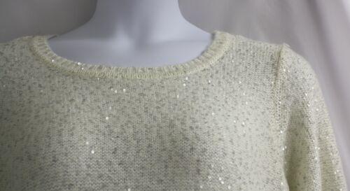 700289693749 Off White 109 Sequins Calvin Cream Sweater Neck Ret Birch Round Klein 1x Ivory EwZtgnOfqx