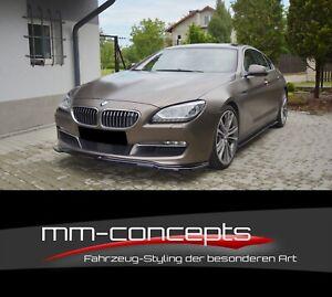 Cup Spoilerlippe SCHWARZ für BMW 6er F06 Gran Coupe Frontspoiler Spoilerschwert