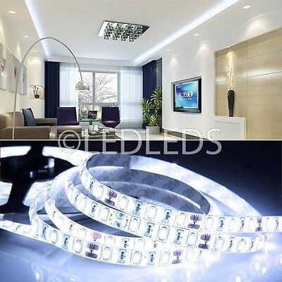 5 M STRISCIA STRIP 300 LED SMD 5630 BIANCO 5 MT ALTA LUMINOSITA IMPERMEABILE