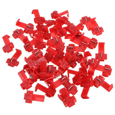 50pcs Scotch Lock Quick Splice 22-18 AWG Gauge Wire Connector Terminals Max 10A