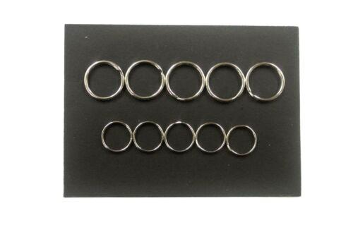 20mm,25mm Split Rings Nickel Plated x5,x10,x25,x50,Key Rings,Chains,Arts,Crafts