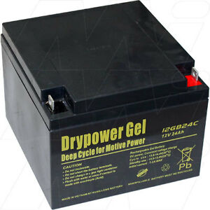 drypower 12v 24ah gel agm deep cycle golf cart battery mgi. Black Bedroom Furniture Sets. Home Design Ideas